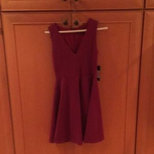 Hello World Wine Red Dress